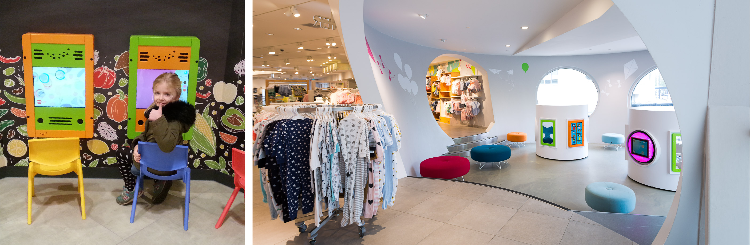 this image shows a kids corner in a clothing store
