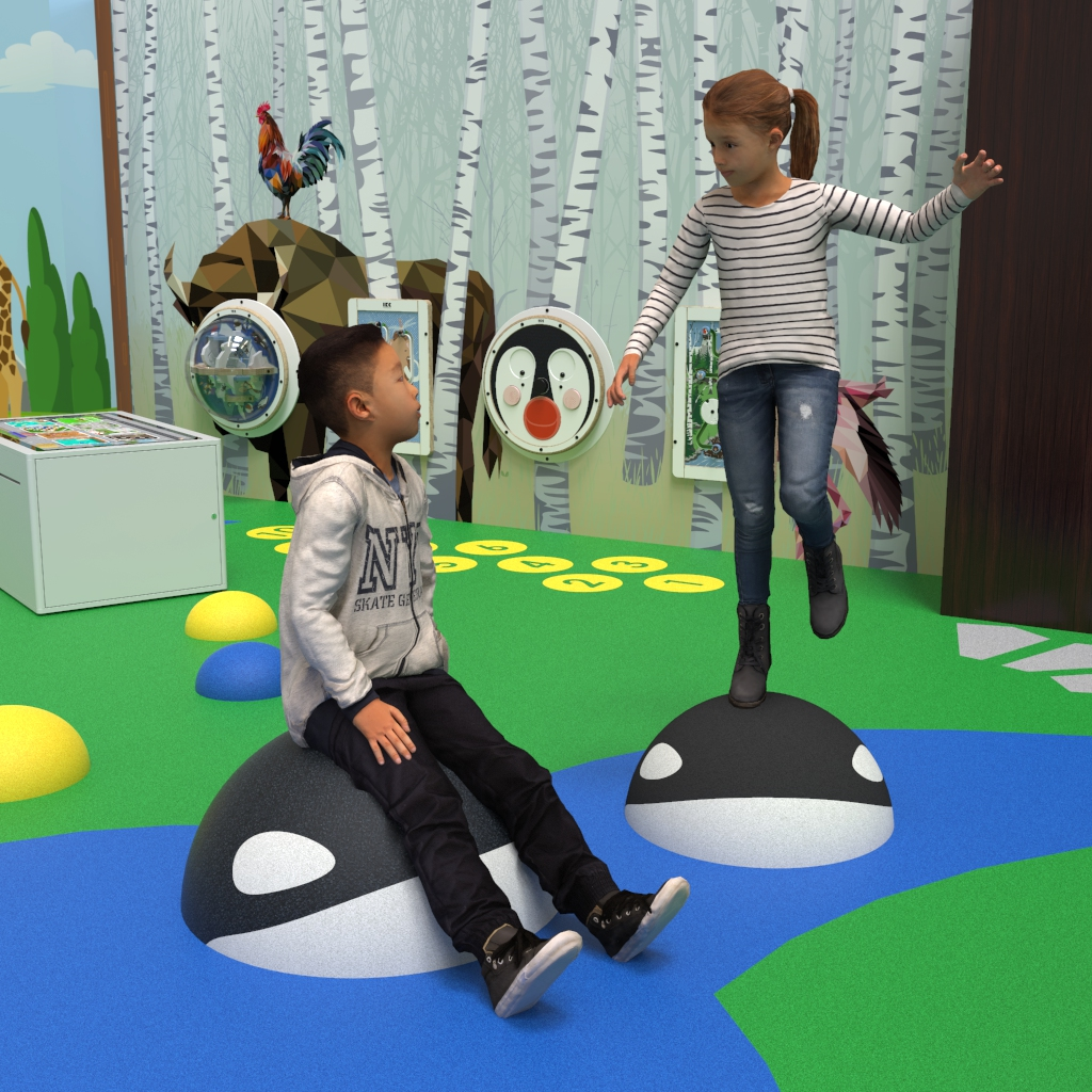 this image shows Orca, climbing and sitting element for play floor