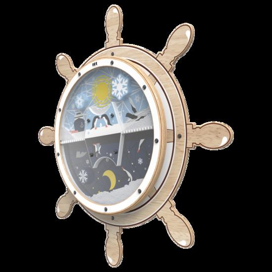 Een wandplaat met de uitstraling van een stuurwiel voor uw kinderhoek | IKC Speelsystemen