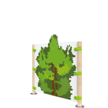 Hekwerk voor kinderhoek met een boom | IKC Hekwerken